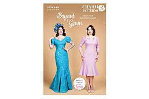 bryant gown charm patterns by gertie