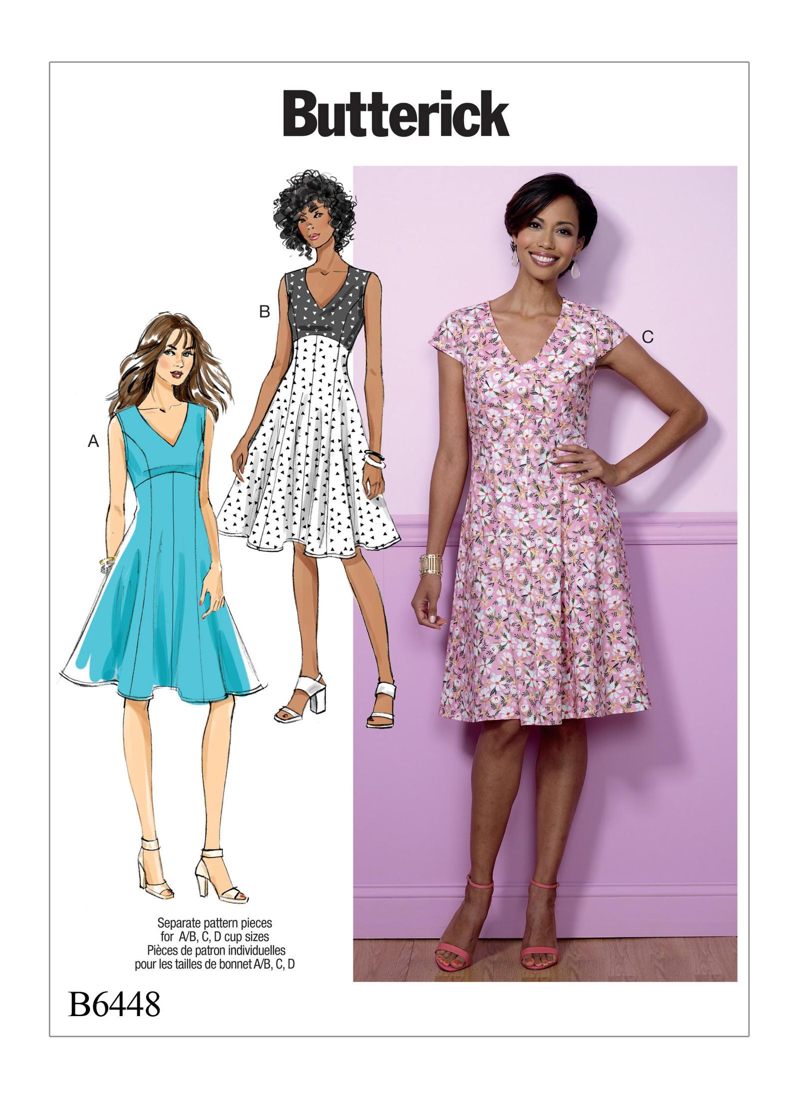 Butterick femme Easy sewing pattern 6296 Pyjama Tops Bu... Short /& Pantalon