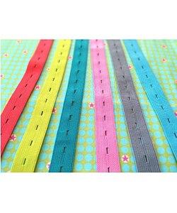 Farbenmix Knapphålsresår flera färger 5 meter