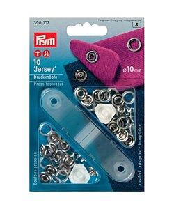 Prym Jersey tryckknappar silver 10 mm