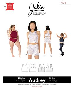 Jalie 4128 Audery Cropped Workout top