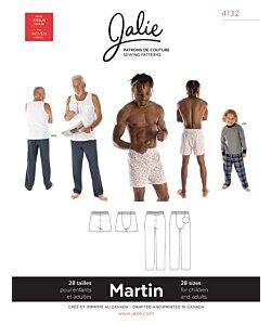 Jalie 4132 Martin byxa/boxer