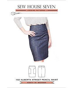 Sew House Seven 102 Alberta Street Pencil skirt