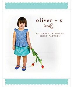 Oliver + s Butterfly blouse skirt