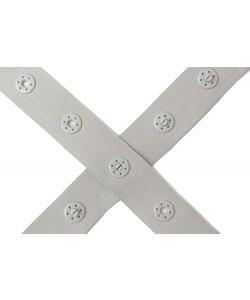 Farbenmix  tryckknappsband grå