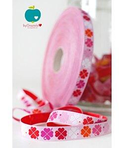 Farbenmix dekorband Lyckoklöver rosa 3 m