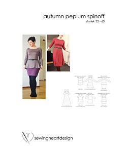 Sewingheartdesign Autumn Peplum spinoff