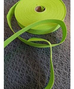Snedslå bomull 15 mm ljusgrön 3 m
