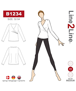 Line2Line Blouse with wrap effect