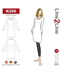 Line2Line T-shirt-dress