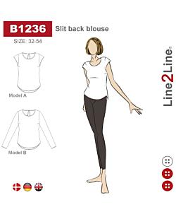 Line2Line Slit back blouse