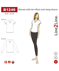 Line2Line Blouse with tie effect