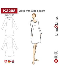 Line2Line dress with wide bottom