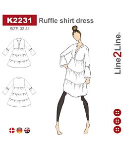 Line2Line Ruffle shirt dress