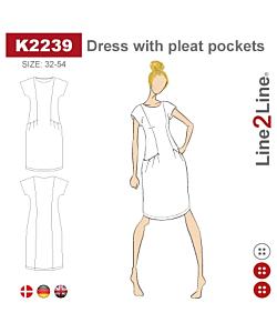 Line2Line dress with pleat pockets