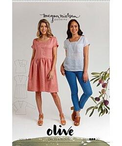 Megan Nielsen Olive dress top
