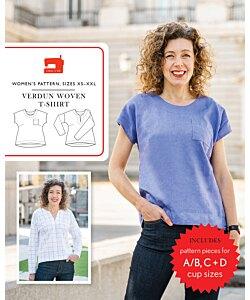 Liesl + Co. Verdun Woven t-shirt