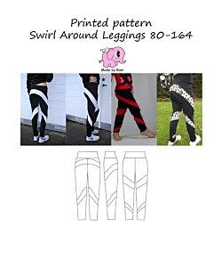 Made by Runi  Swirl around leggings barn