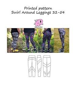 Made by Runi  Swirl around leggings dam