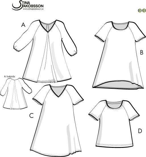 gratis dockkläder sy mönster